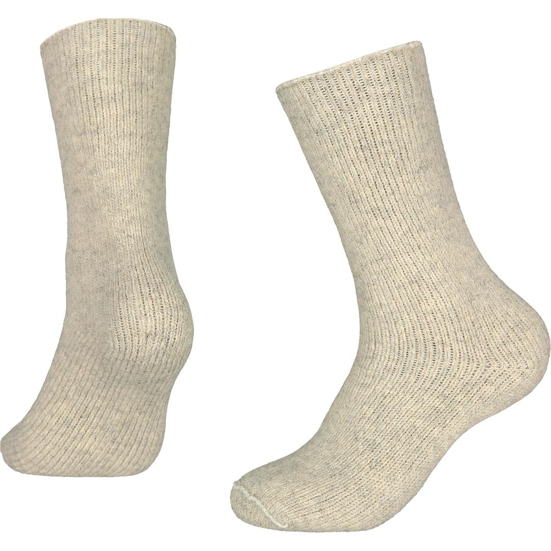 North Outdoor 90 Basic sockor i merinoull, ljusgrå