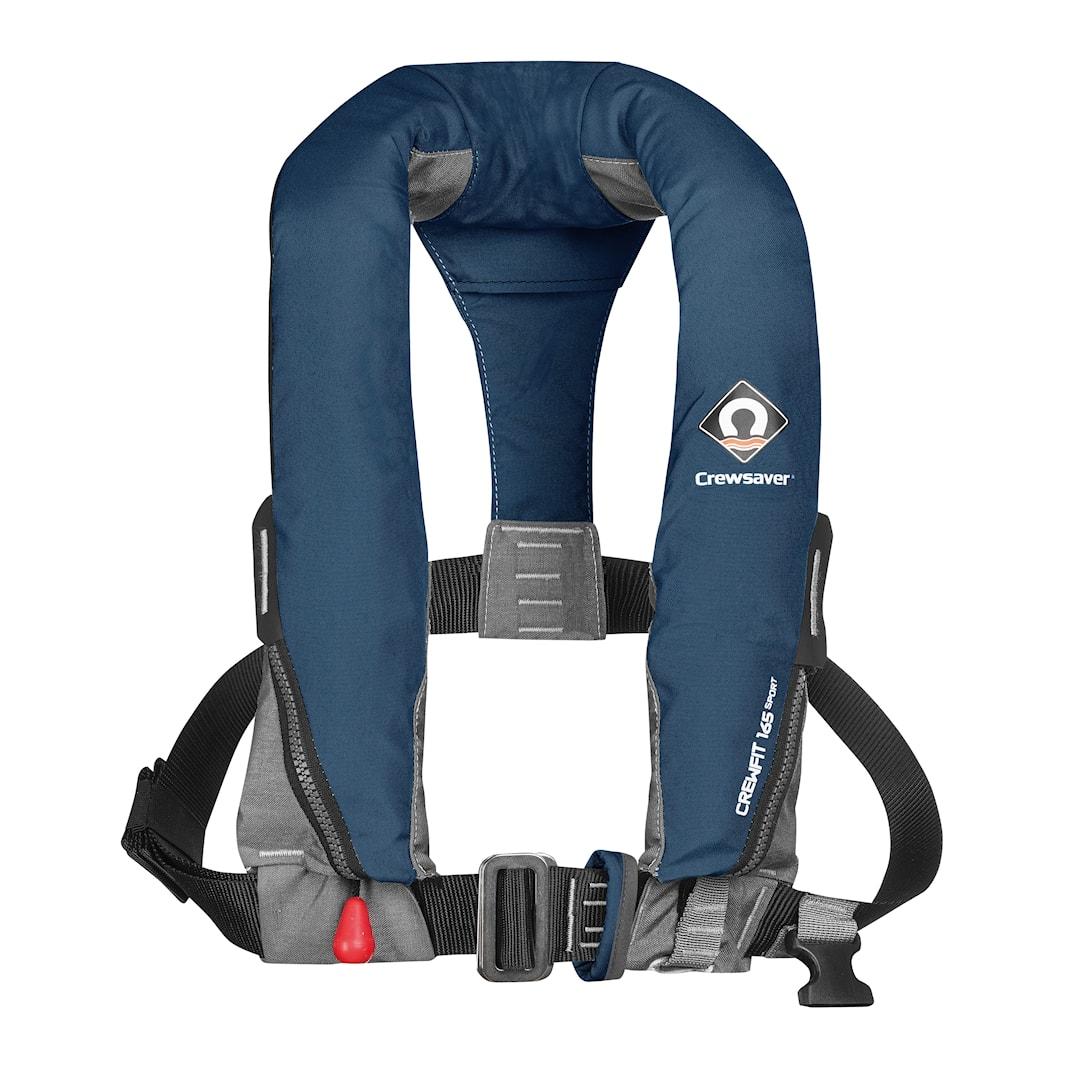 Crewsaver CrewFit Sport 165N automatisk uppblåsbar flytväst med säkerhetssele