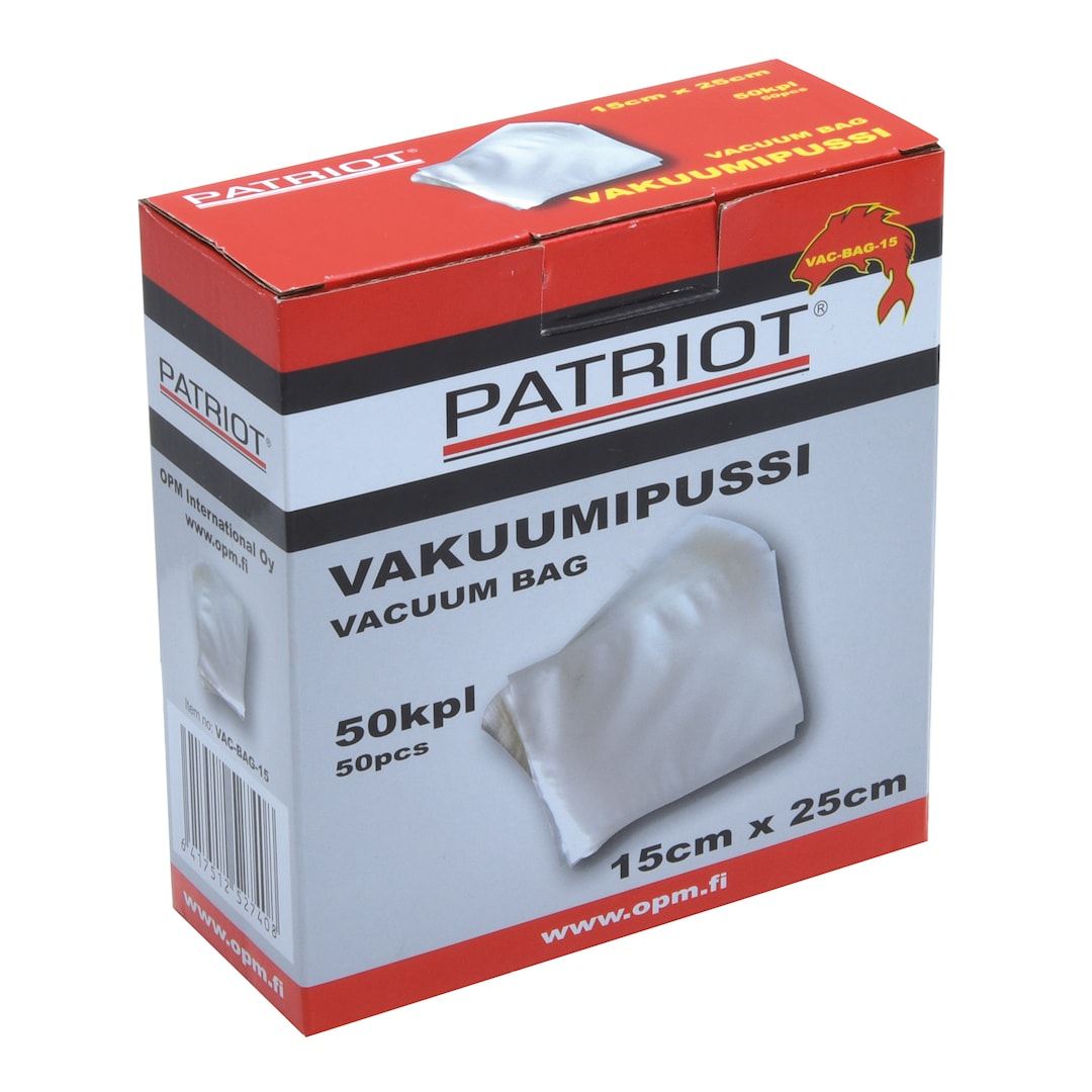 Patriot vakuumpåse 15cm x 25cm 50st/pkt