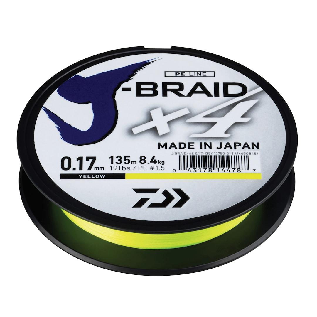 Daiwa J-Braid X4 gul 270 m flätlina