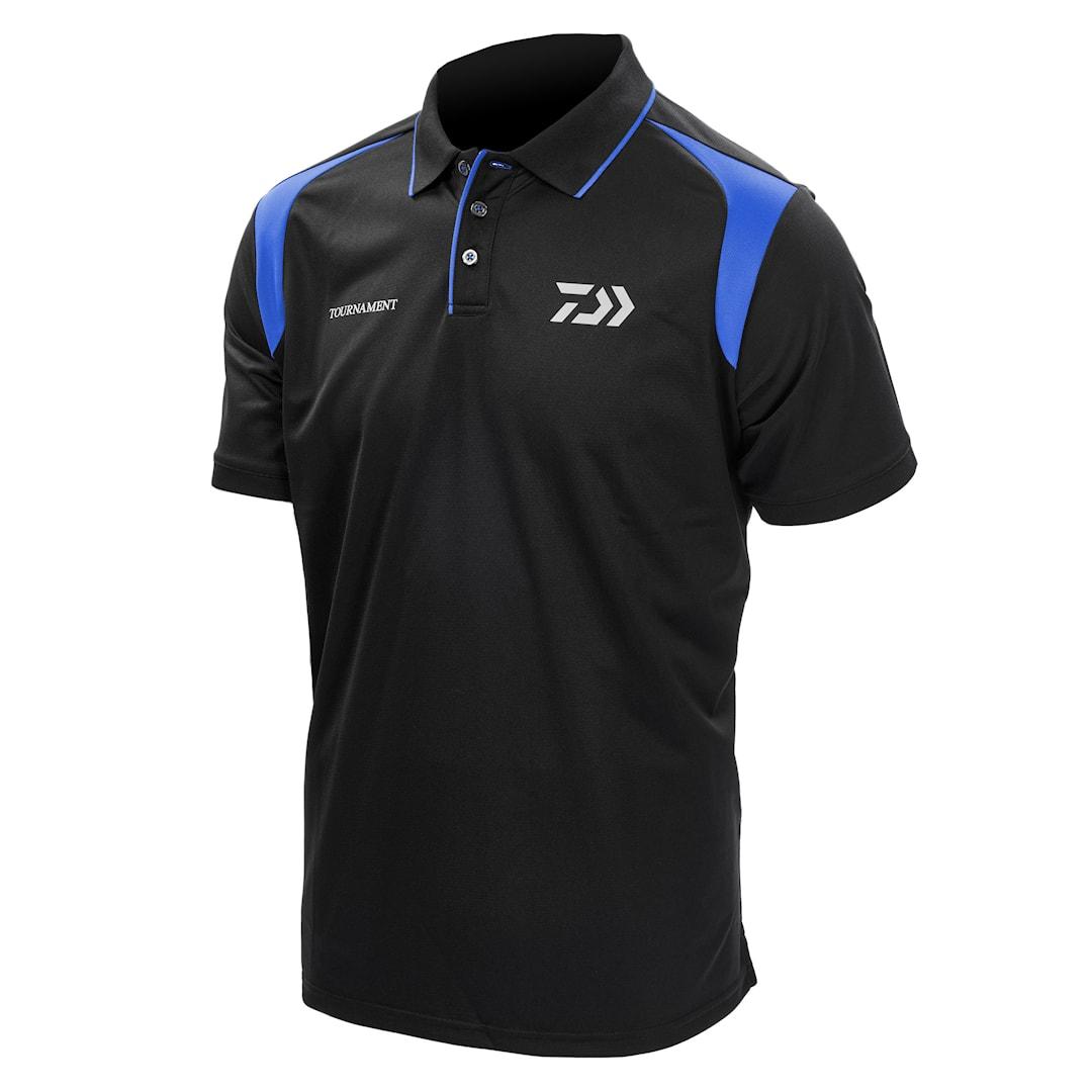 Daiwa Tournament polotröja svart/blå