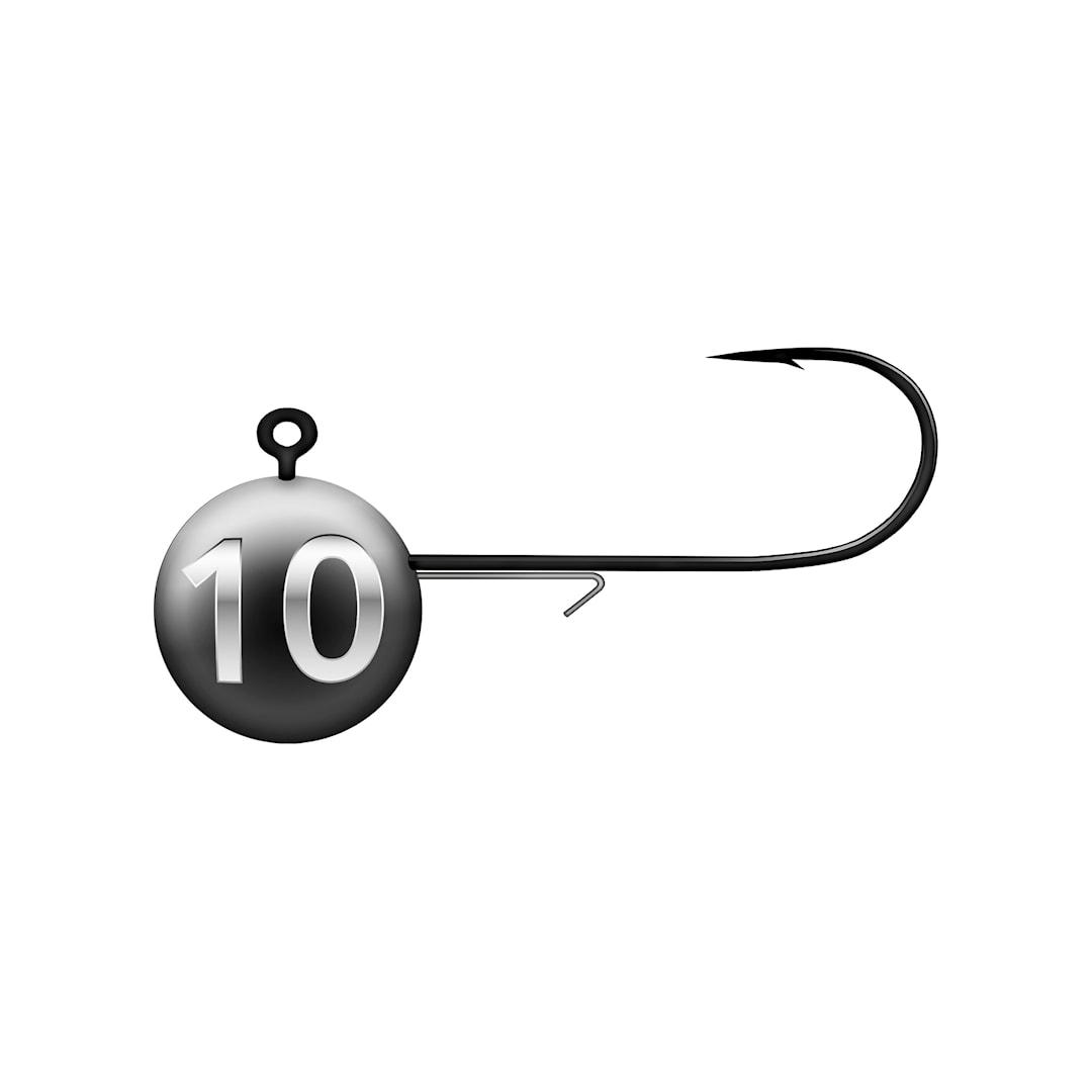 BKK jigghuvud Round 10 g 4 st/pkt