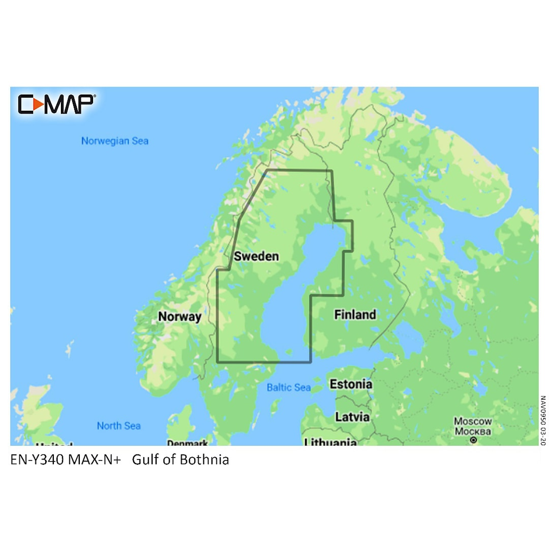 C-MAP MAX-N Y340 Bottenviken sjökort 32GB