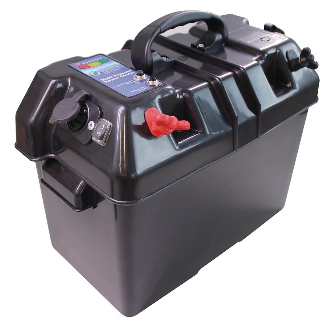 Batterilåda med strömuttag