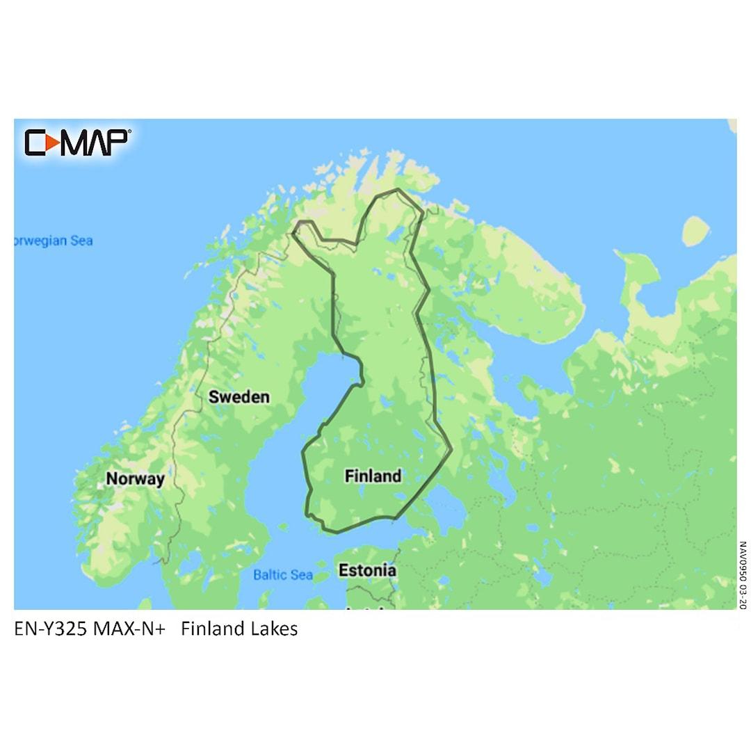 C-MAP MAX-N Y325 Finlands sjöar sjökort 32GB