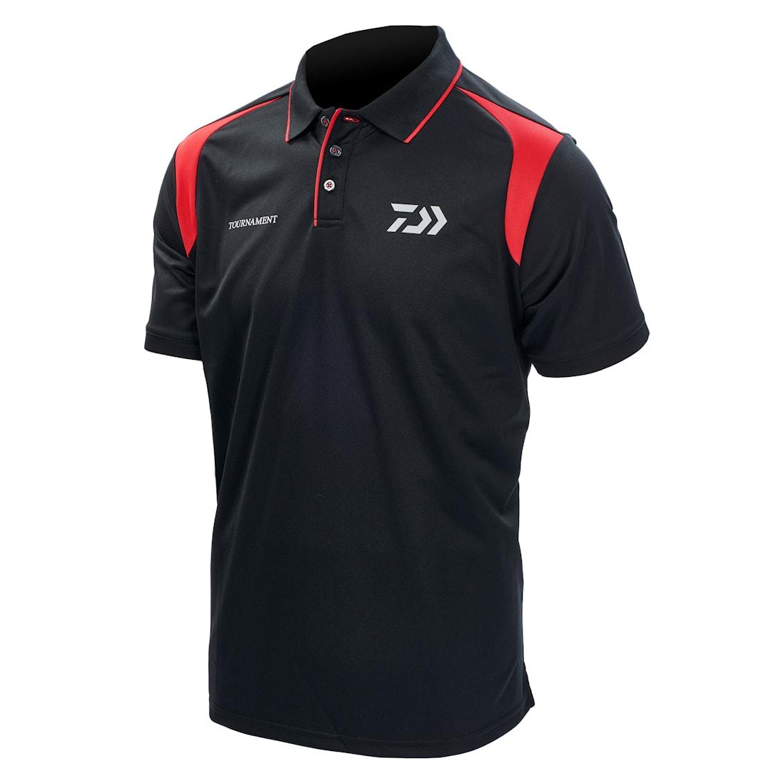 Daiwa Tournament polotröja svart/röd