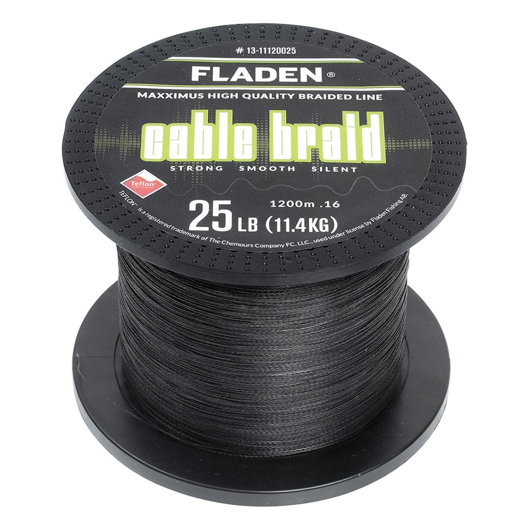 Fladen Maxximus Cable Braid svart 1200 m flätlina
