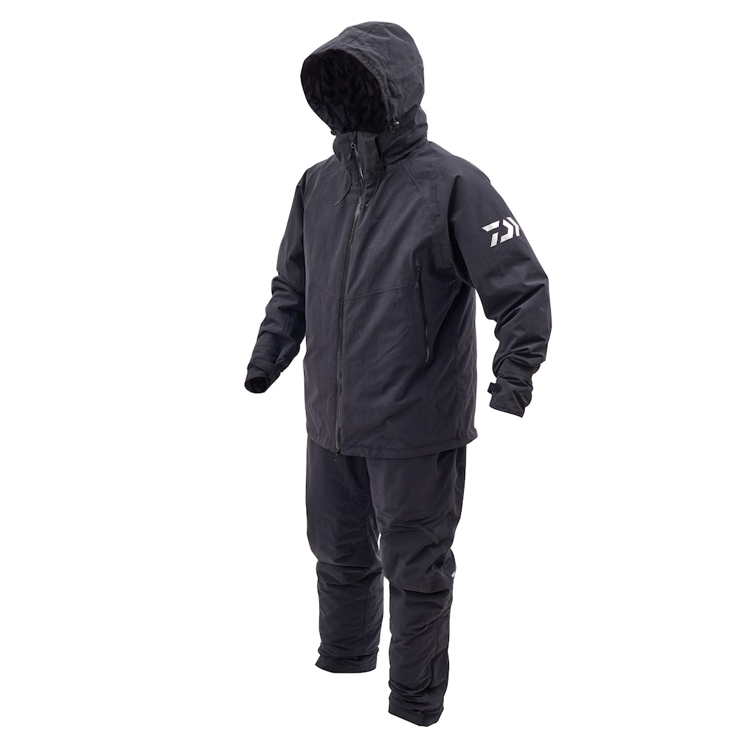 Daiwa Rainmax Hiloft värmeoverall, svart/grå