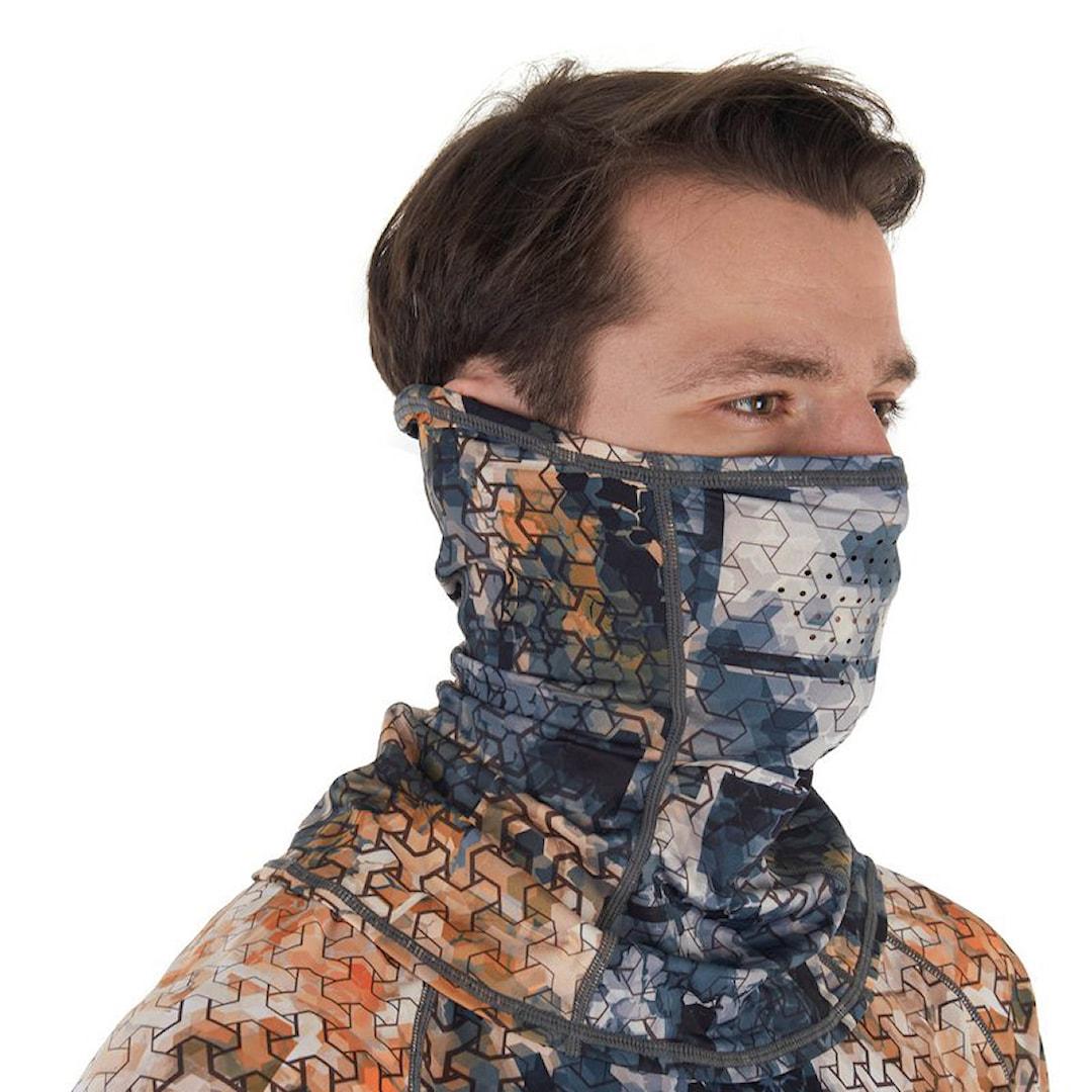 FHM Mark Mask UPF 50+ Grey Orange ansiktsmask