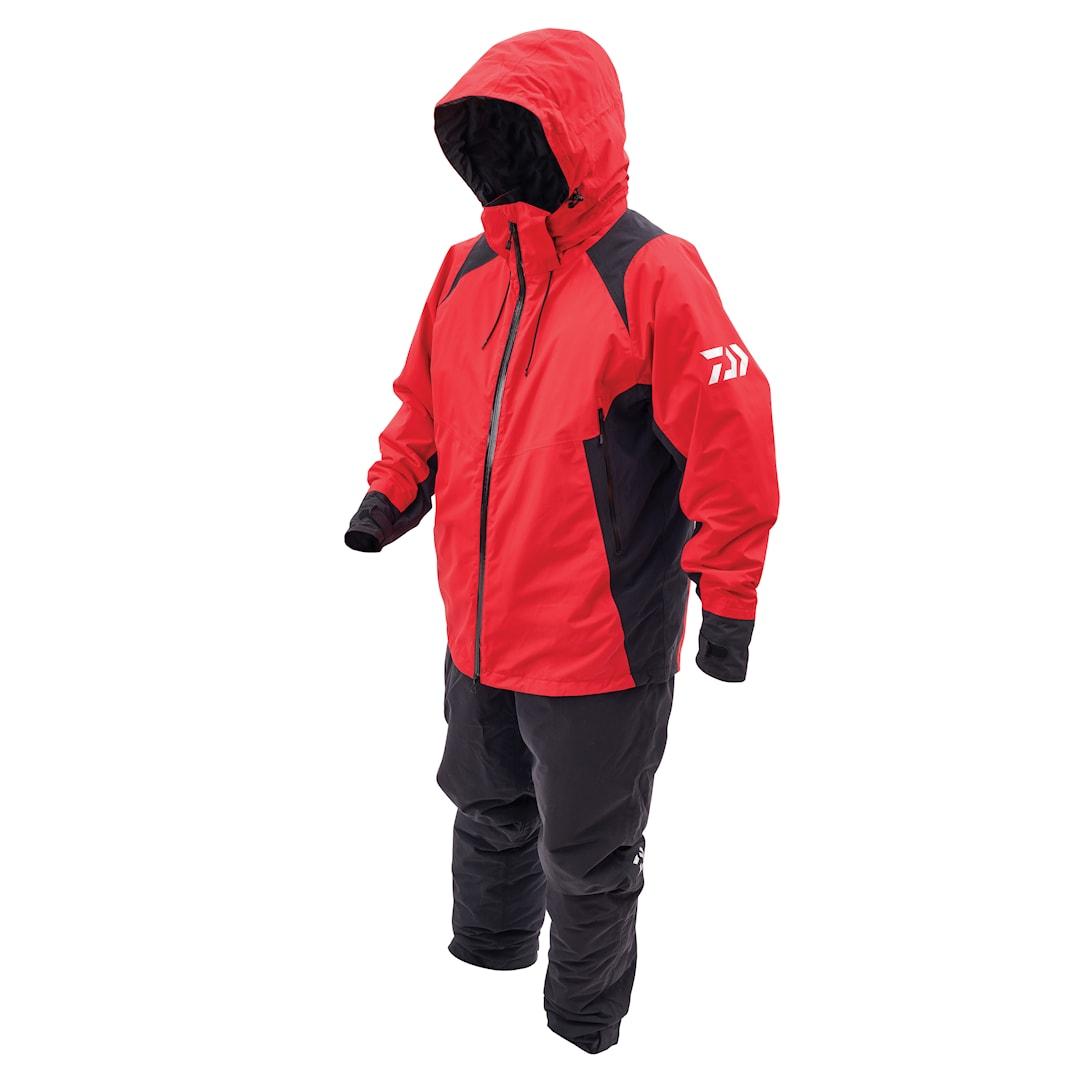 Daiwa Rainmax Hiloft värmeoverall, röd/svart