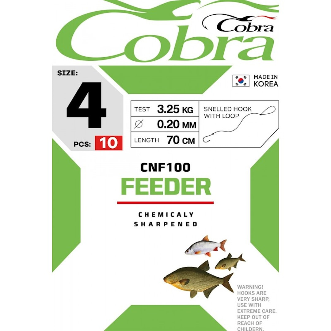 Cobra Feeder krok med tafs 10st/pkt