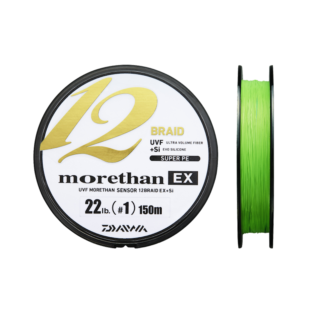 Daiwa Morethan 12 EX Chartreuse 135 m flätlina