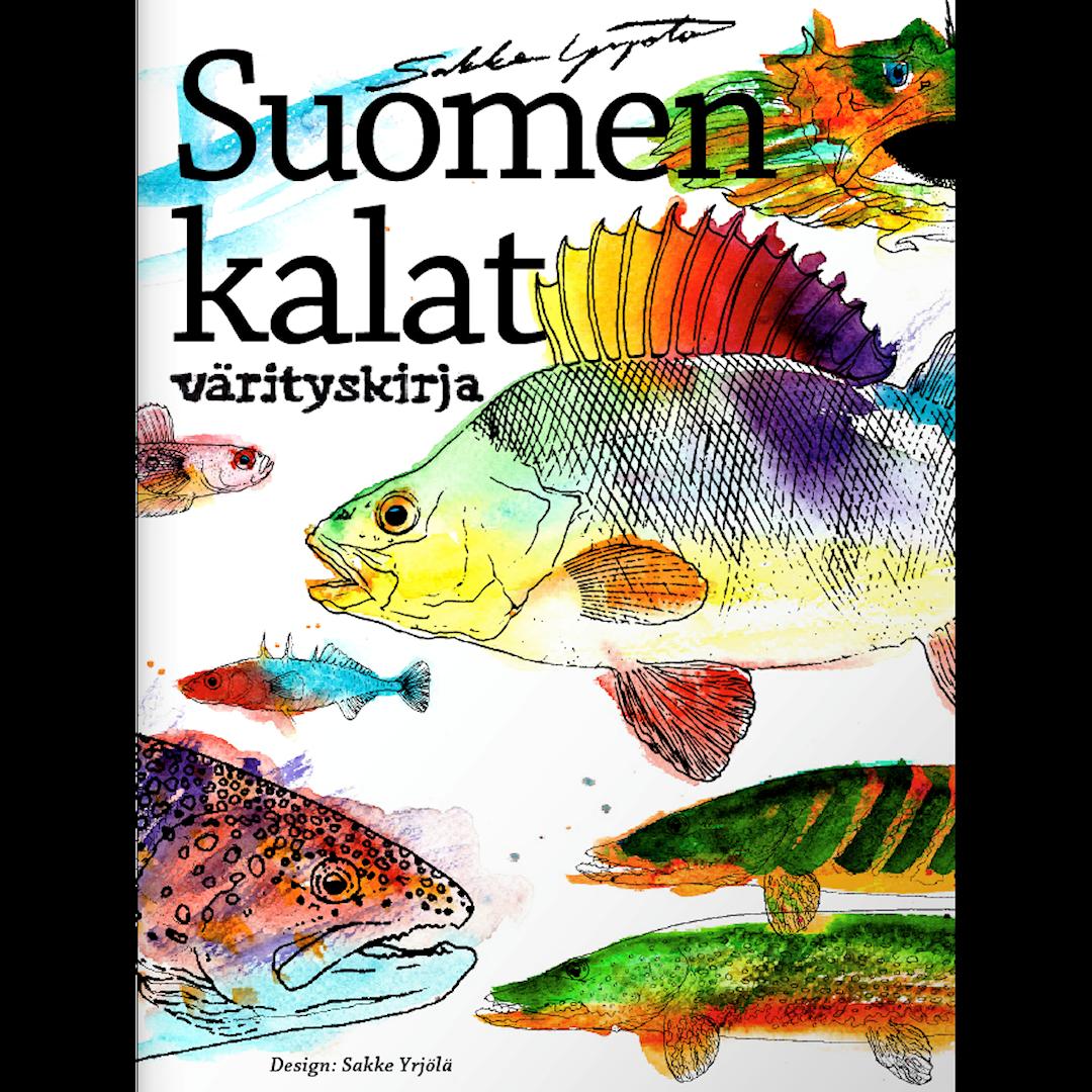 Sakke Yrjölä Finlands Fiskar målarbok