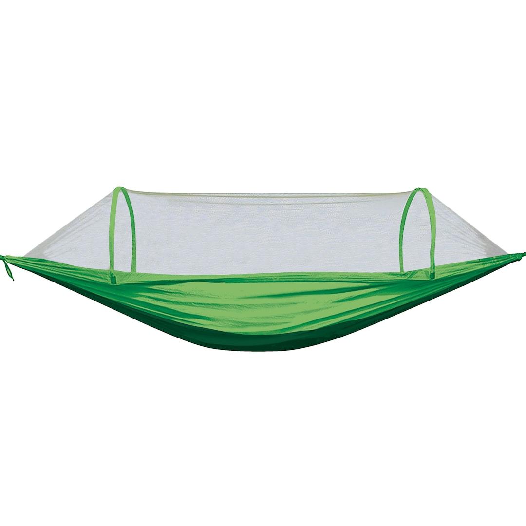 Fladen hängmatta med myggnät, mörkgrön