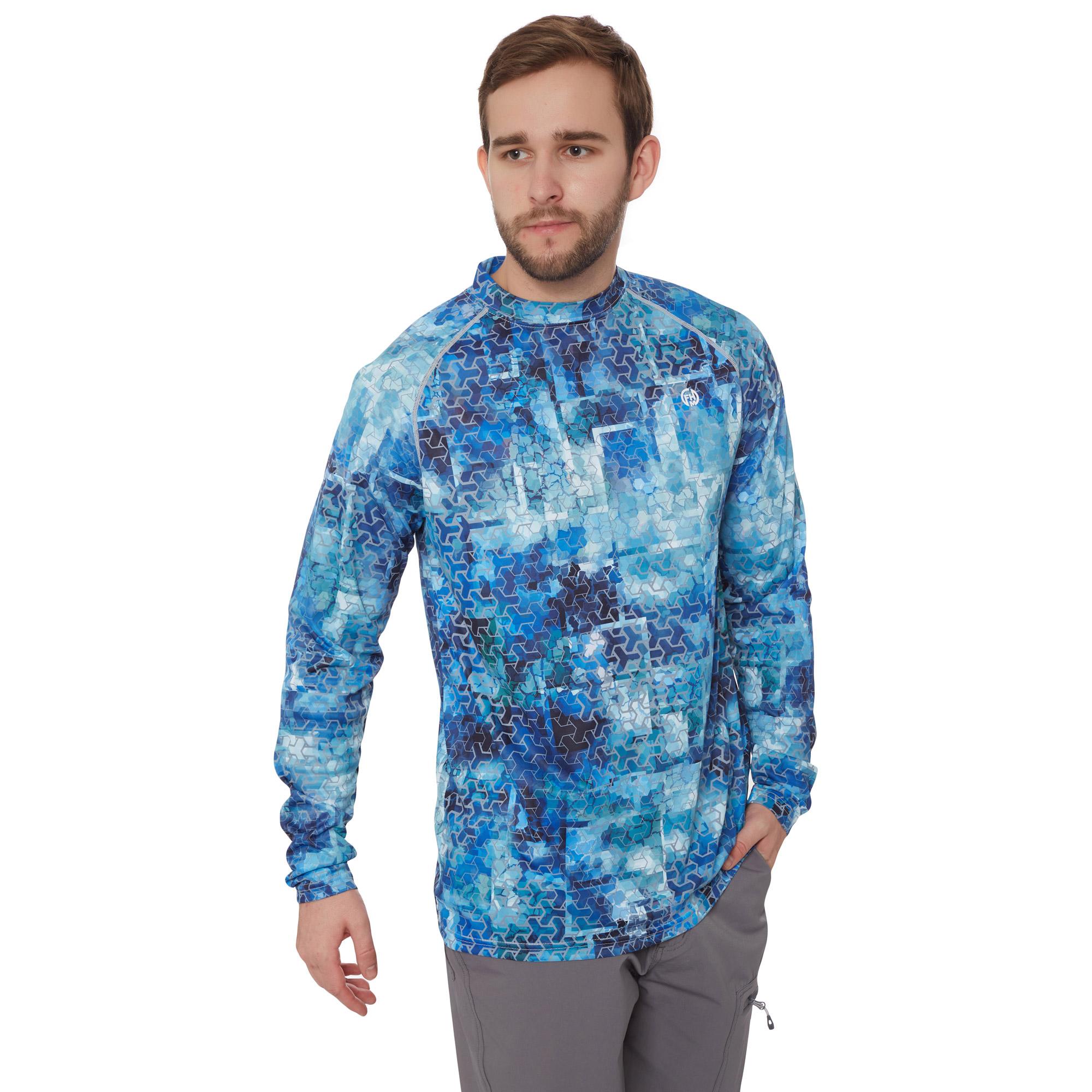 FHM Mark Evo Aqua Blue UPF 50+ футболка для рыбалки